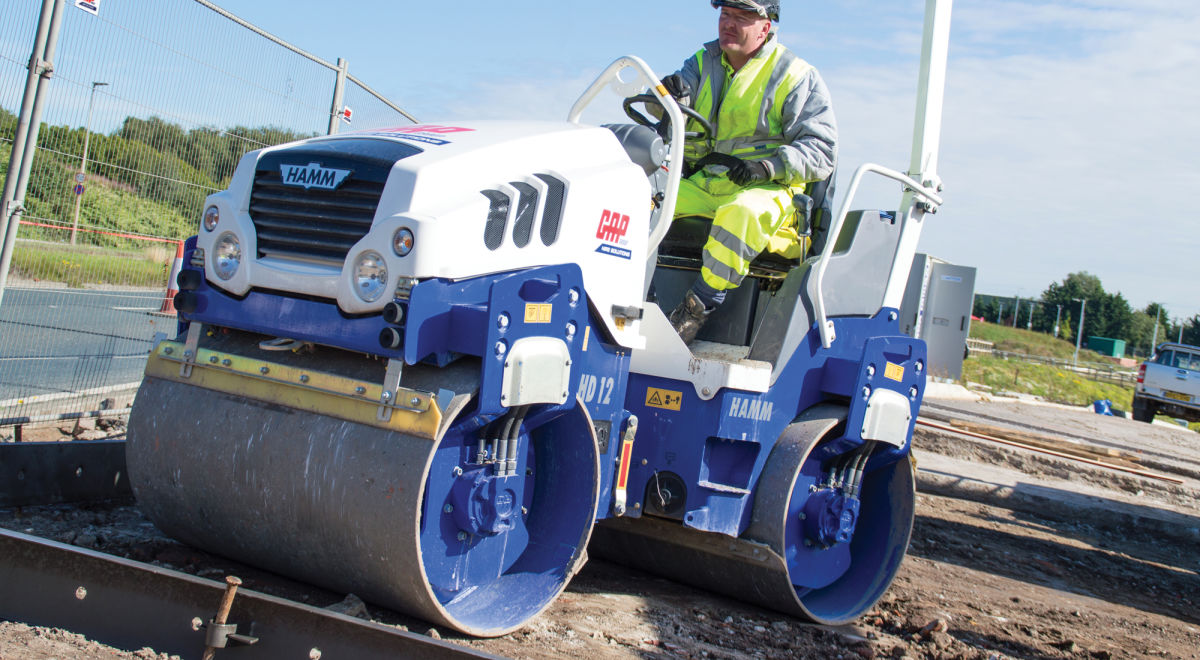 Ro017   1.2m double drum roller onsite product feature