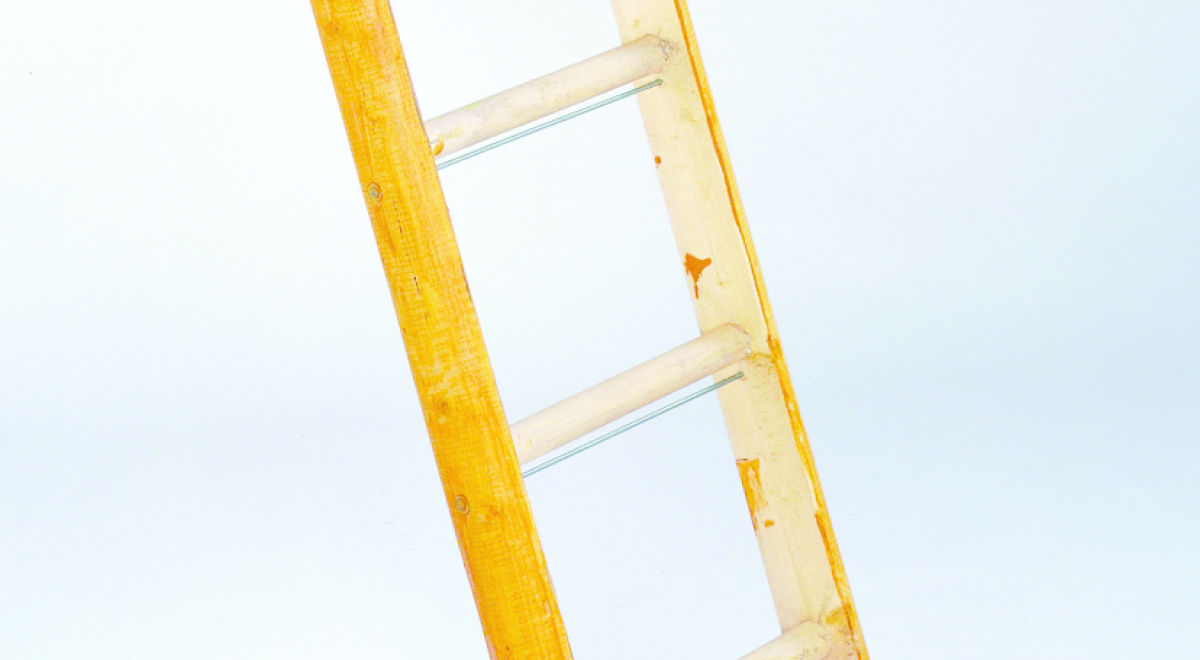 Lt017   reinforced wooden ladder product feature
