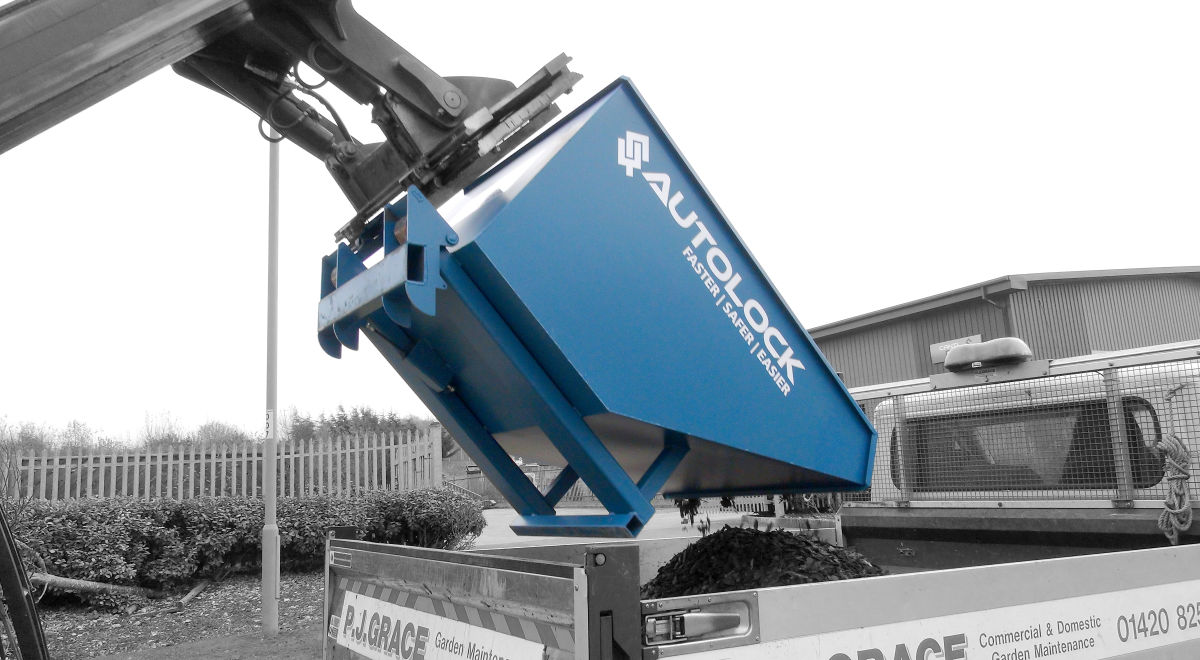Ld1666   forklift tipping skip product feature
