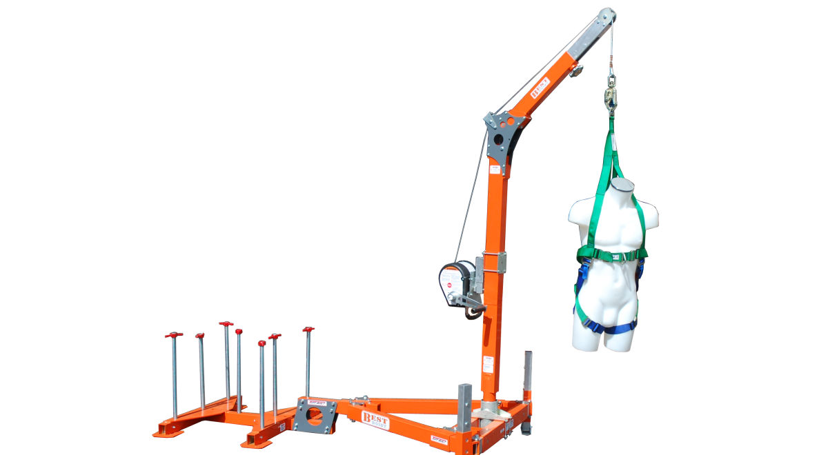 Ld1733 counterbalance davit system product feature