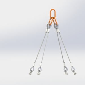 4 leg wire rope sling with shackles (for page 193) product listing