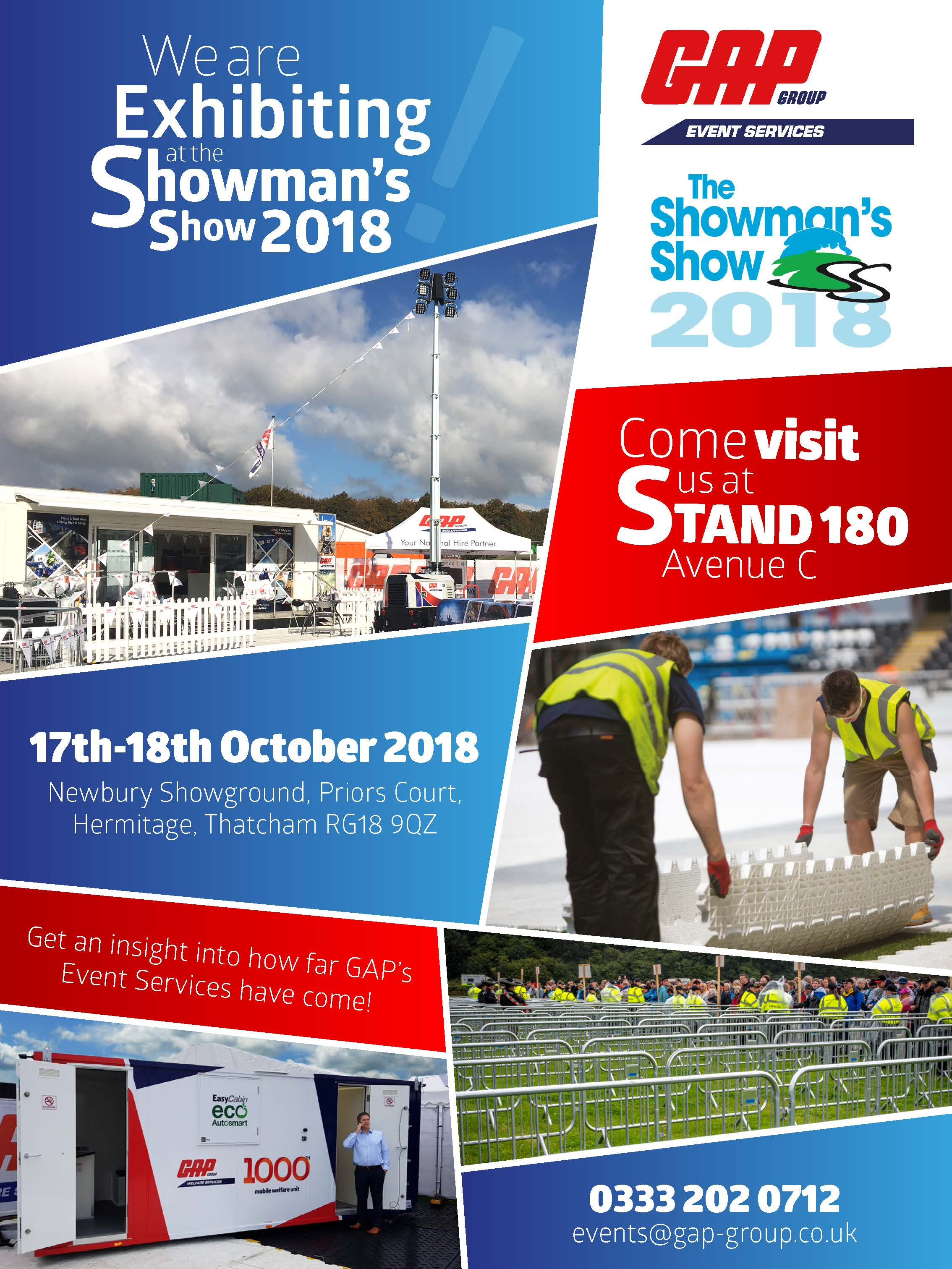 Showmans Show 2018 invitation