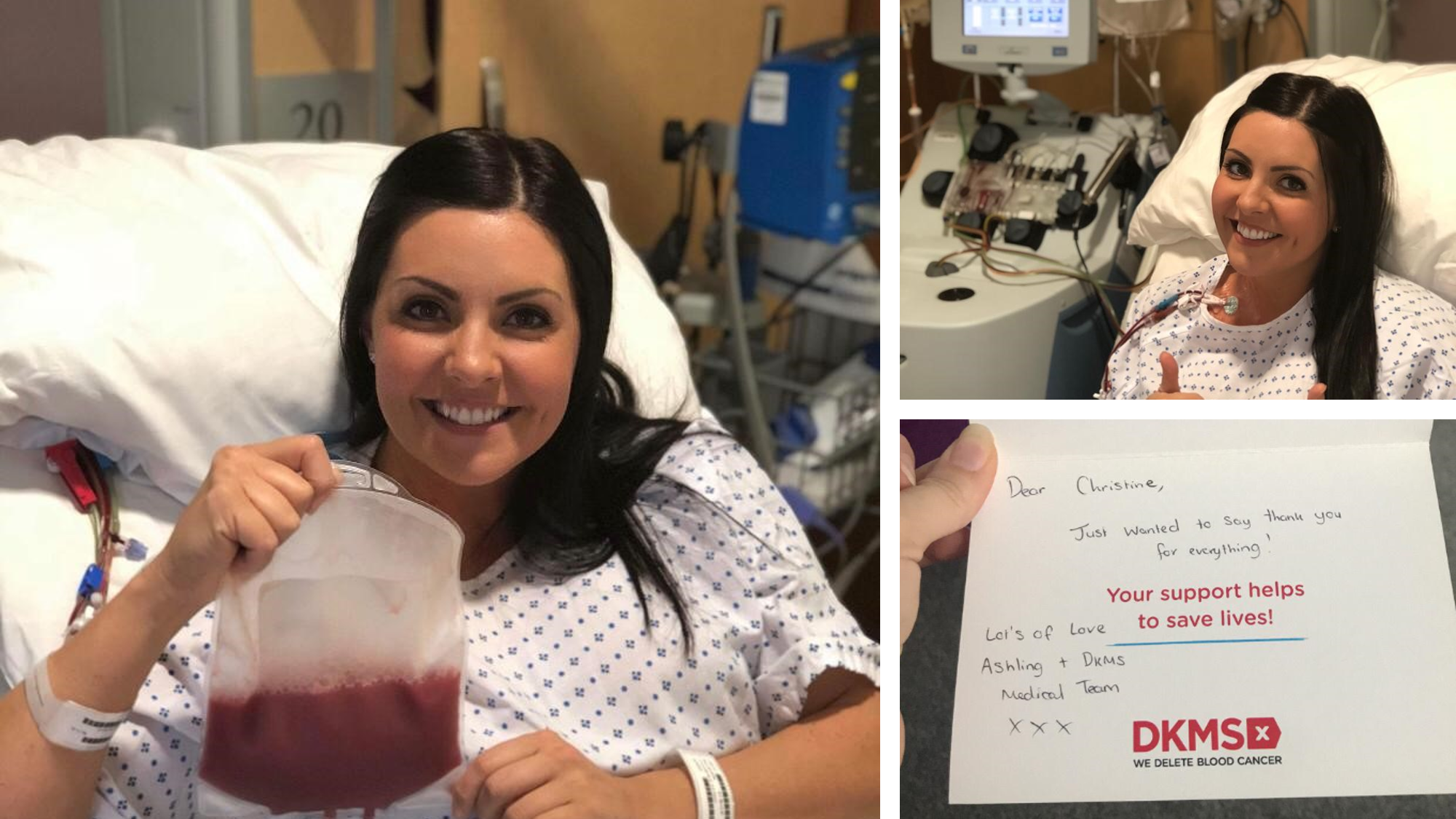 Christine Kerr stem cell donation pictures