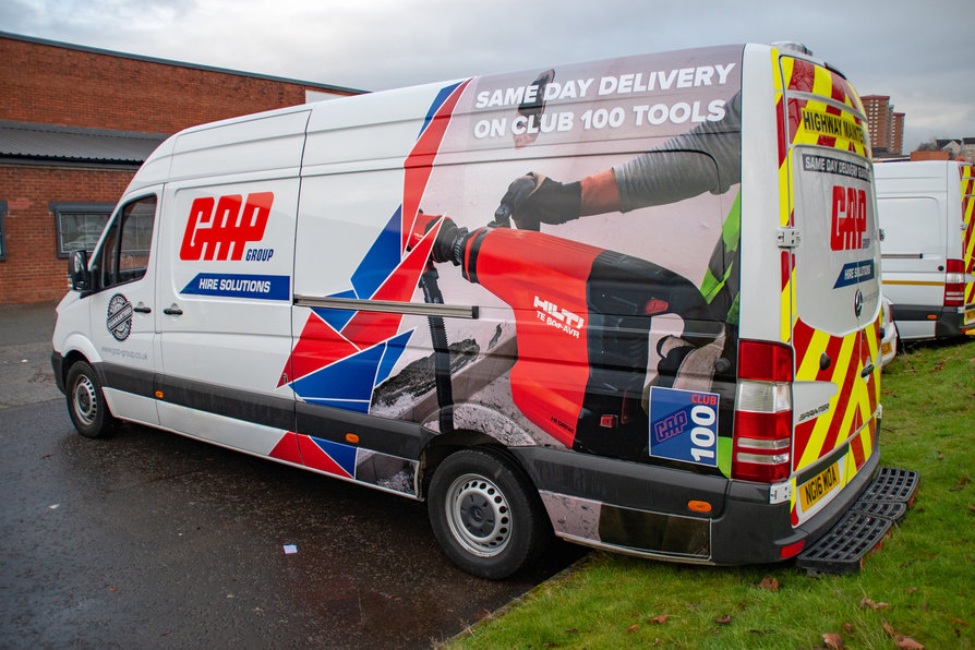 Same day delivery vehicle livery