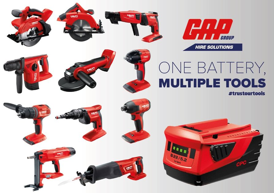 GAP one battery, multiple tools