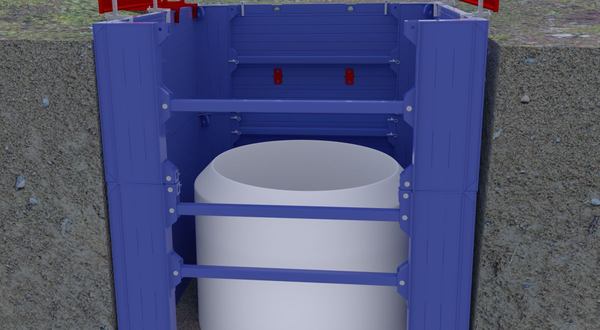 Manhole box full render product feature