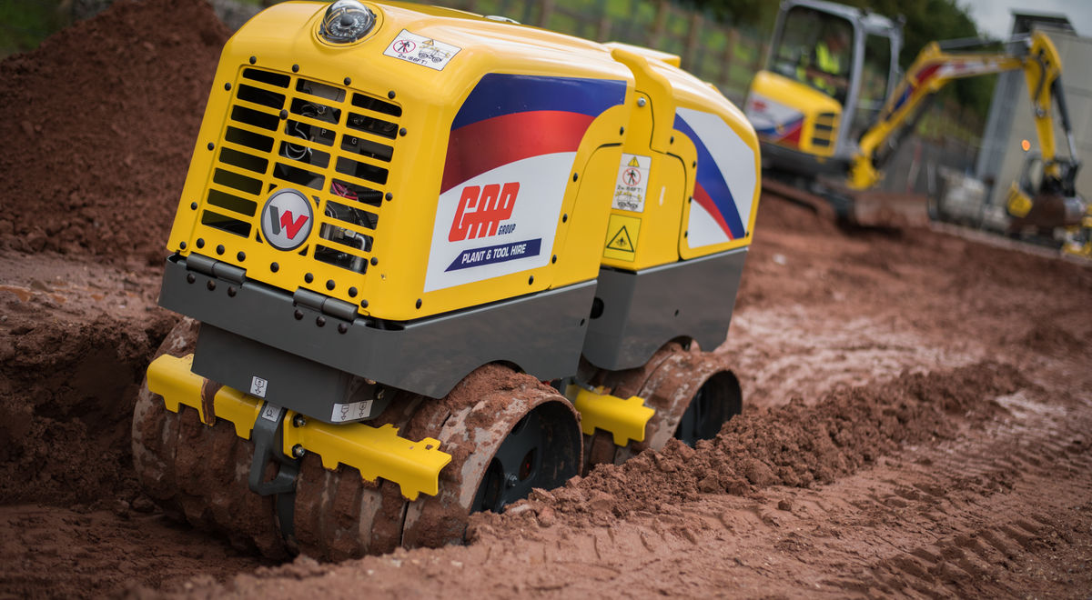 Trench roller onsite 1 product feature