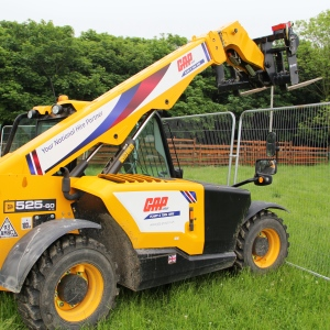 Wrapped telehandler product listing
