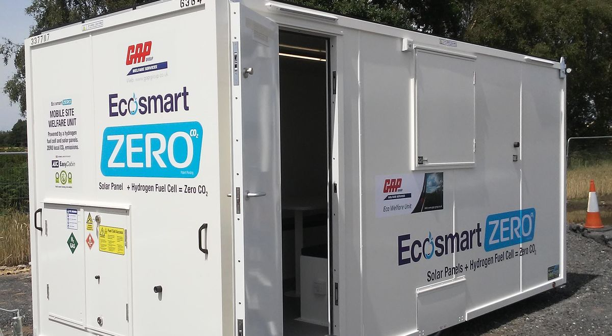 Gap snap   stuart wilcock   one of our ecosmart zero welfare units delivered to our customers compound ready to go on the motorway product feature