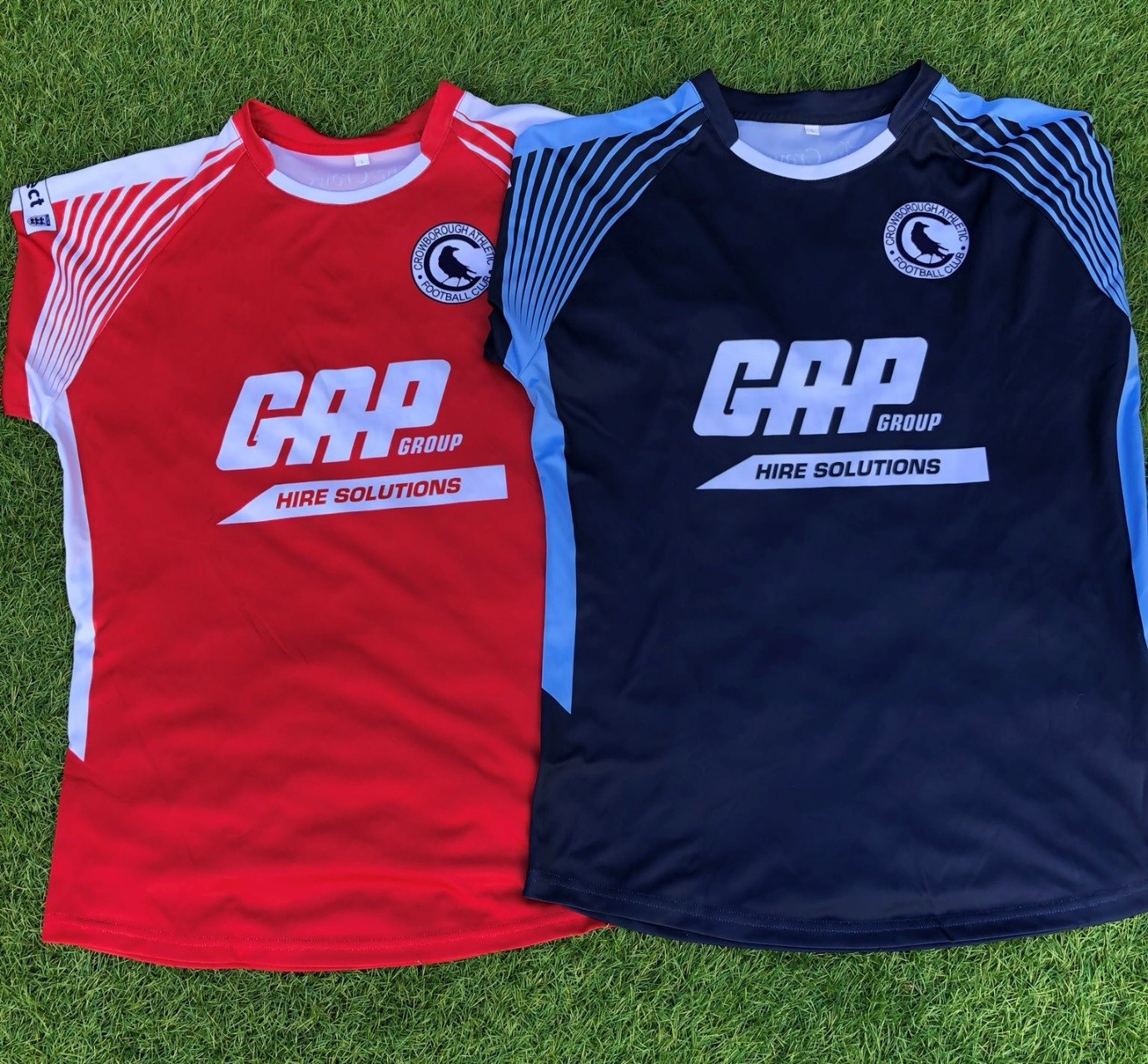 Crowborough Athletic FC's brand-spanking new kit for the 2019 2020 season