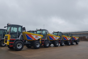 Gap snap   ken stewart   wacker neuson dual view dumpers about to be dispatched to gap depots listing