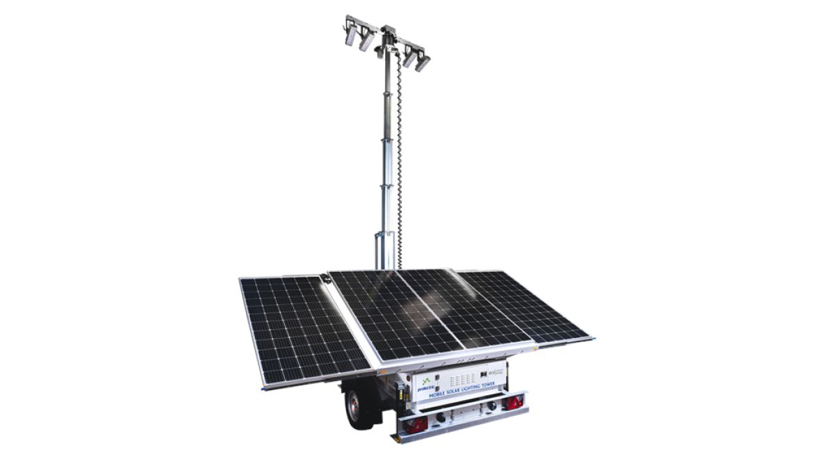 Mobile solar lighting tower product feature
